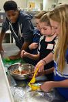 More than 60 middle school students made salsa.