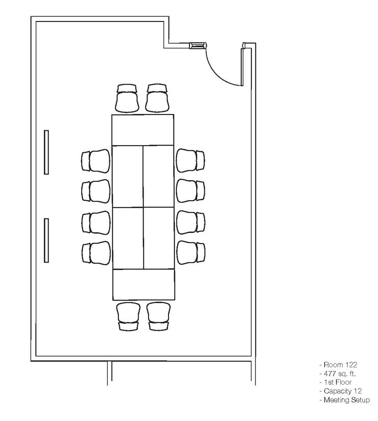 Conference Room 121 122 Layouts