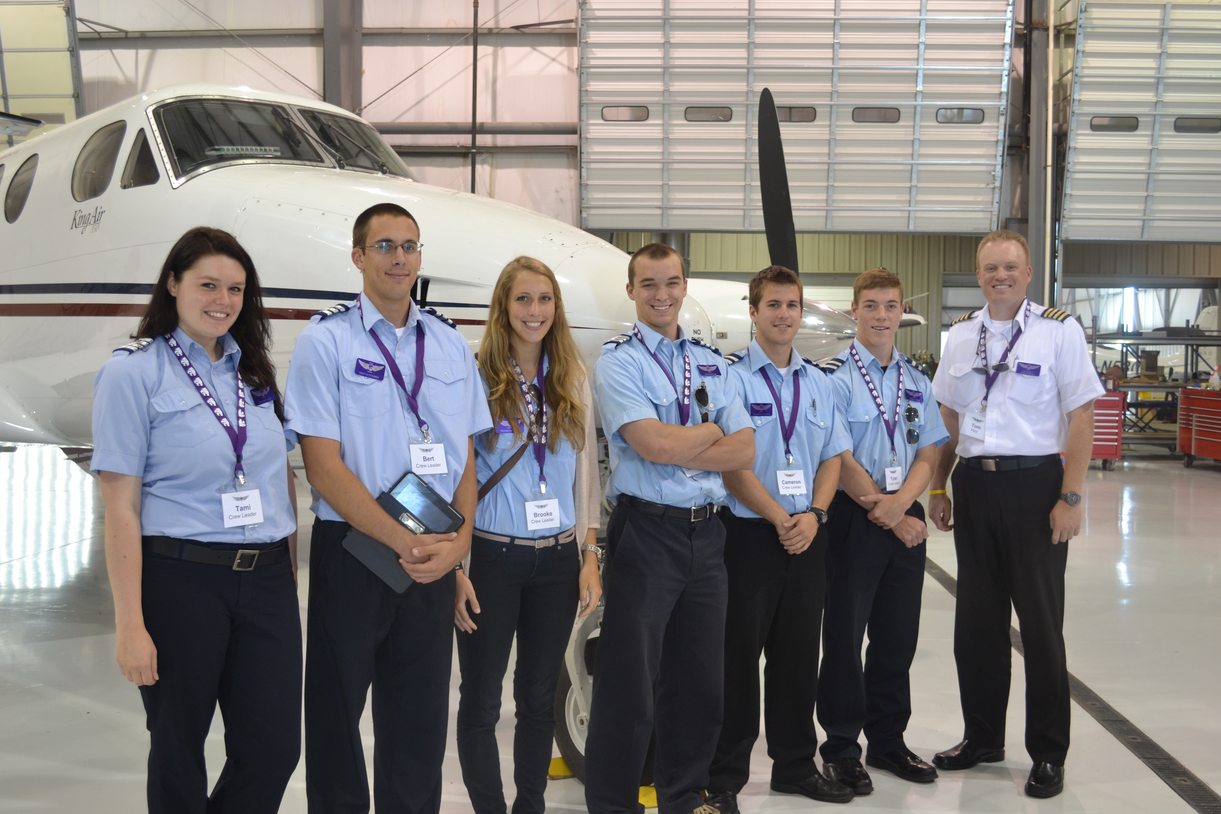 K-State Salina flight crew