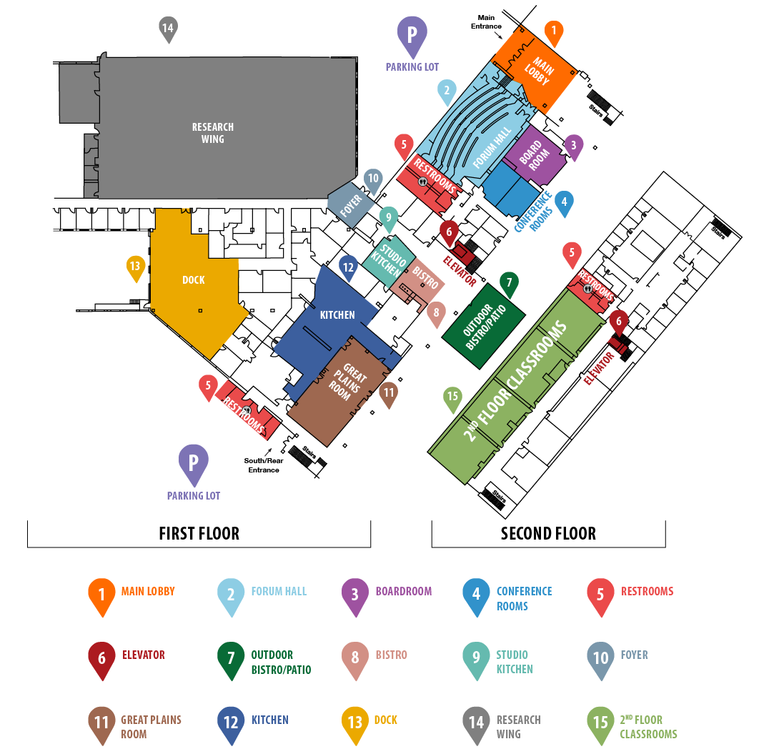 Illustrative graphic of the campus map.
